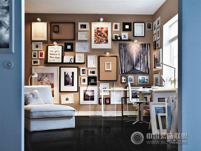 用黑色地板装个性居室 客厅装修效果图 宁波装饰网