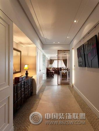 欧式婚房 流行复古风格 过道装修图片