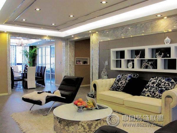 中交丽景 三居室 107平米 客厅装修设计