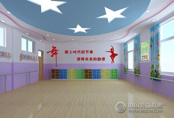 小学舞蹈教室 单张展示 学校装修效果图高清图片