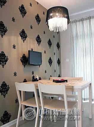 12.5装92平米舒适婚房 餐厅装修图片