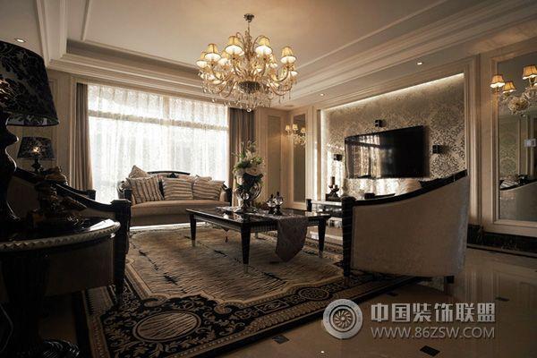 新婚夫妻豪华欧式品味婚房 客厅装修图片
