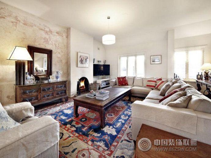 英式小别墅客厅装修效果图图片
