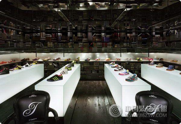 创意鞋店室内设计 专卖店装修效果图 八六装饰