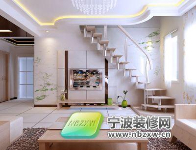复式装修案例-客厅装修效果图-宁波装修网装修效果