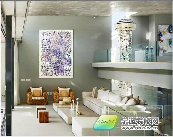 日本横滨极致简约高档别墅 客厅装修效果图 宁波装饰