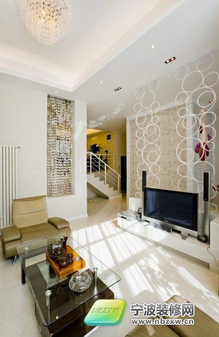 幽雅简约复式楼层 客厅装修效果图