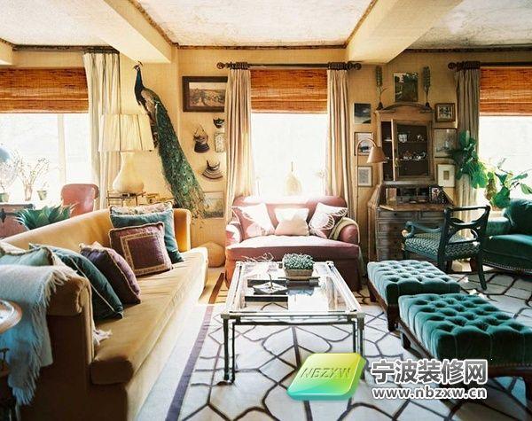 美式乡村风格客厅 整套大图展示 美式风格装修效果图