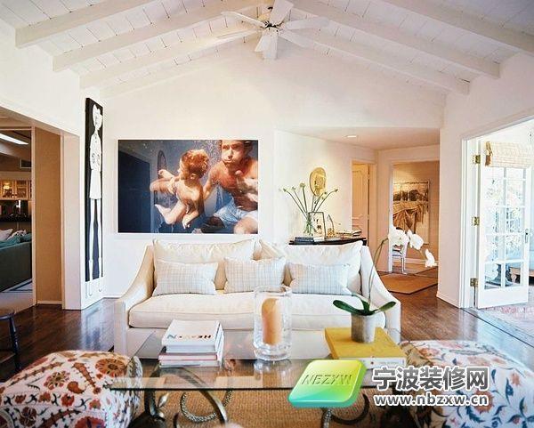 美式乡村风格客厅② 客厅装修图片