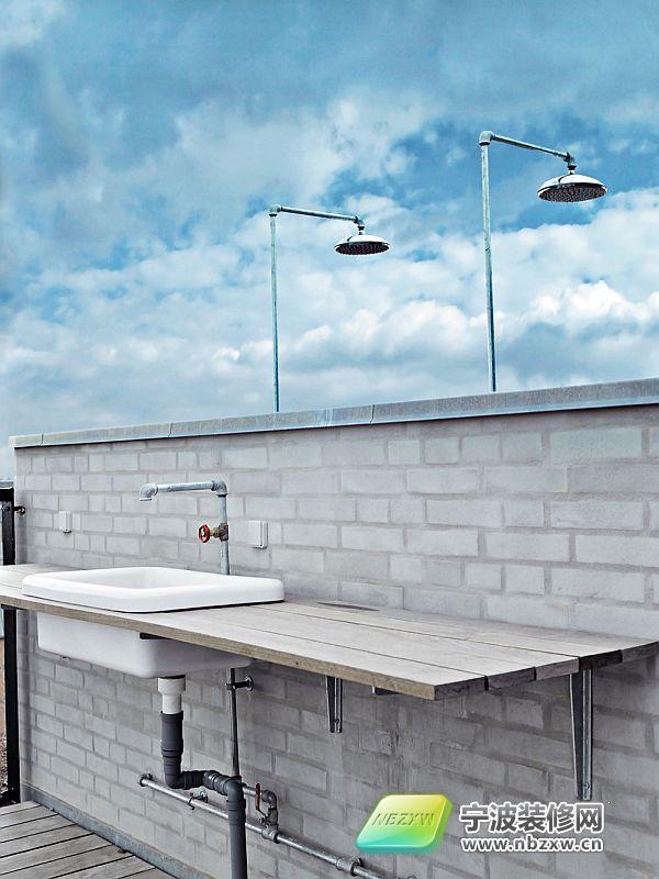 经典简约黑白公寓 阳台装修效果图 宁波装饰网装修