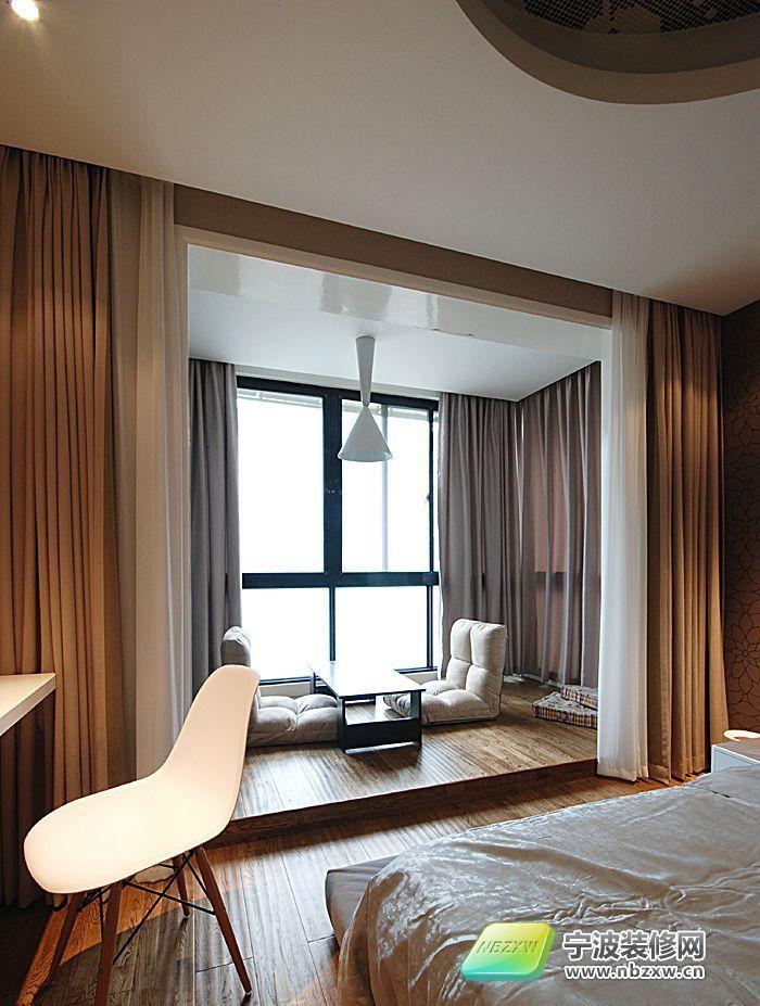 小夫妻打造85平米现代简约 卧室装修效果图 宁波装修