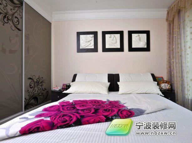 13万打造160平现代典雅实景 卧室装修效果图 宁波