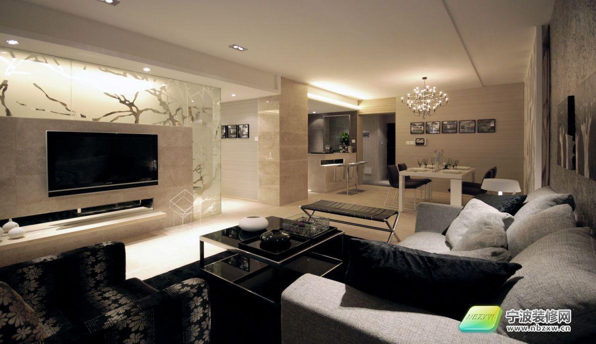 一酷到底的奢华豪宅-客厅装修效果图-宁波装修网装修