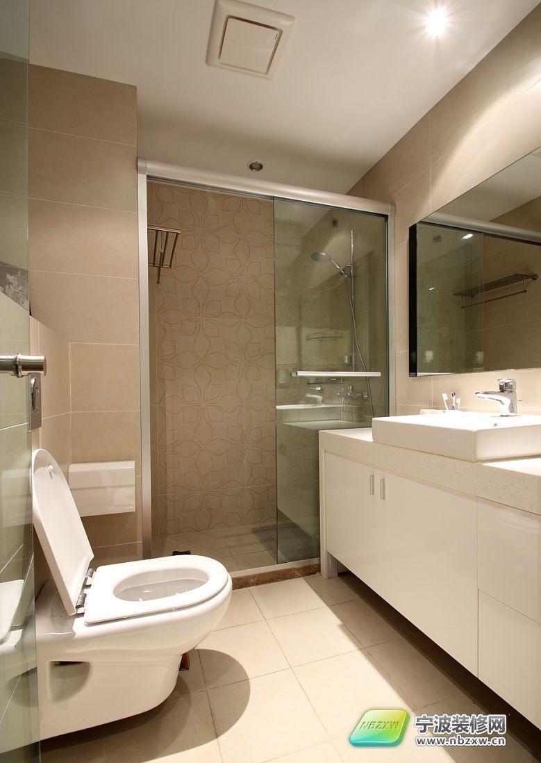 家装建材_155平米现代简约婚房-卫生间装修效果图-宁波装修网装修效果图库