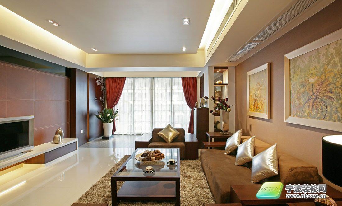 130平 中式古典风格 客厅装修图片