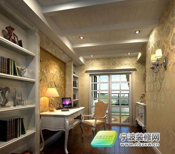 别墅气质的180平欧式风格 书房装修图片