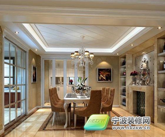 别墅气质的180平欧式风格欧式餐厅装修图片;