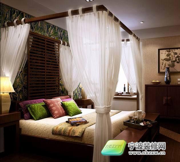中式卧室装修图片