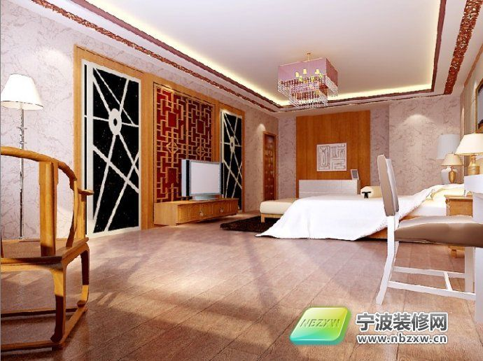 80万新古典豪宅案例 卧室装修图片