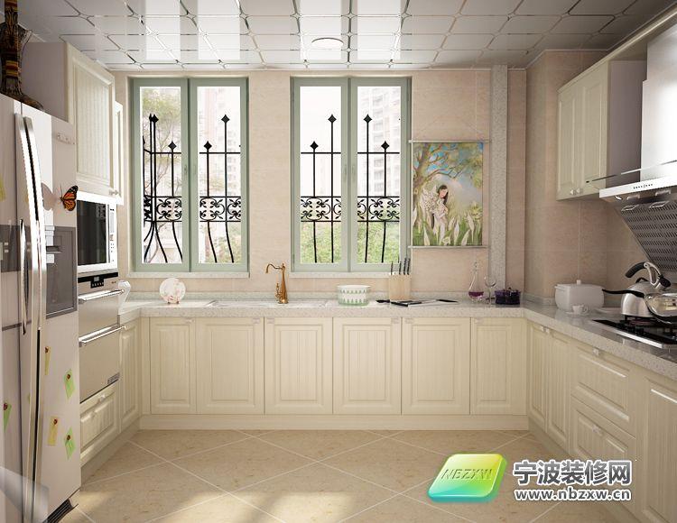 一套简欧风格装修案例-厨房装修效果图-宁波装修网