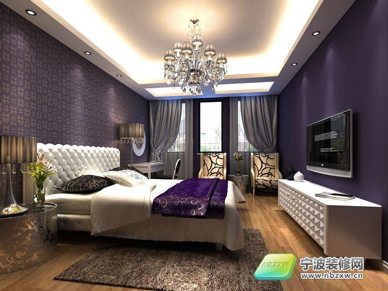 欧式奢华别墅 卧室装修图片