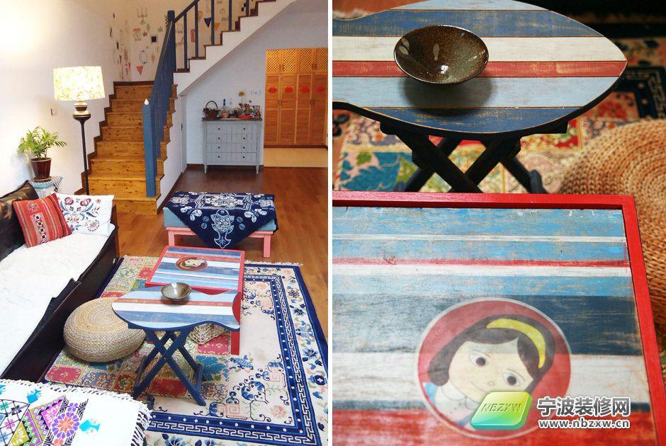 17万打造175平米美式风格家居 客厅装修图片