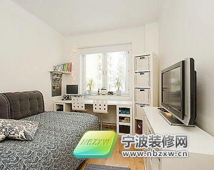 72平方米淡雅小户型 卧室装修效果图