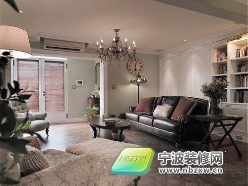 85平米美式古典温馨家居 客厅装修图片