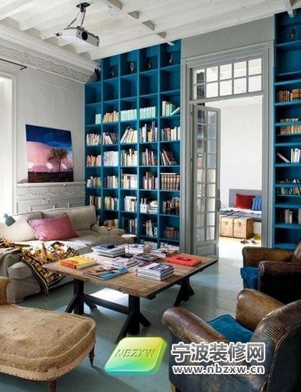 83平清新地中海风格家居 书房装修效果图