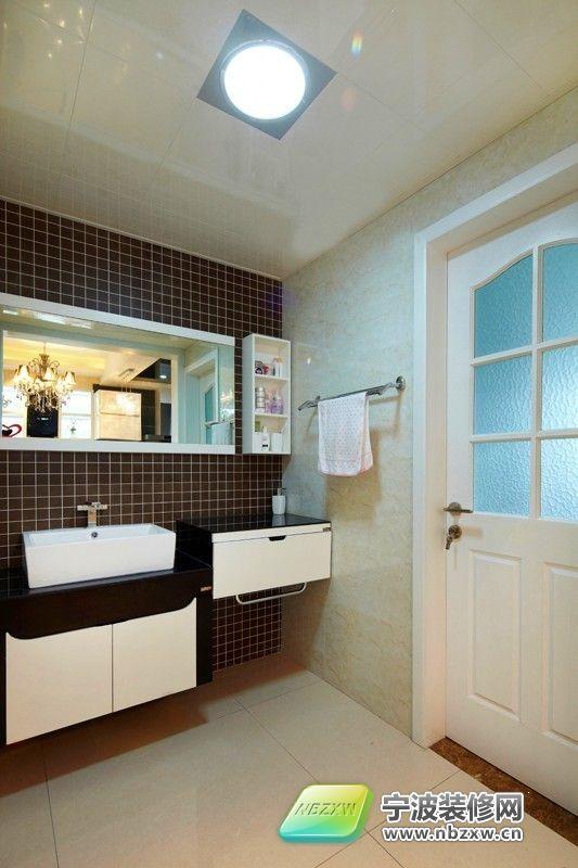 嘉裕丹顿阳光 三居室 135平米 卫生间装修效果图