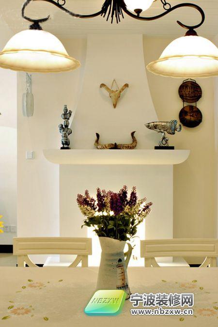 130平乡村田园4居复式 紫色卧室圆床超浪漫 餐厅装修效果图 -130平乡