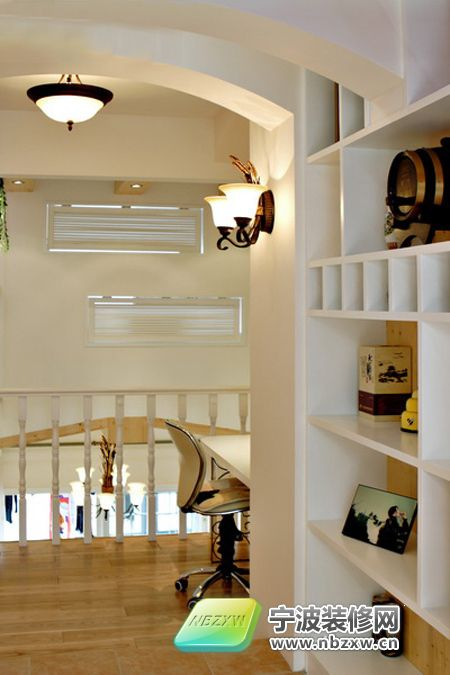 4居复式 紫色卧室圆床超浪漫 书房装修效果图 -130平乡村田园4居复
