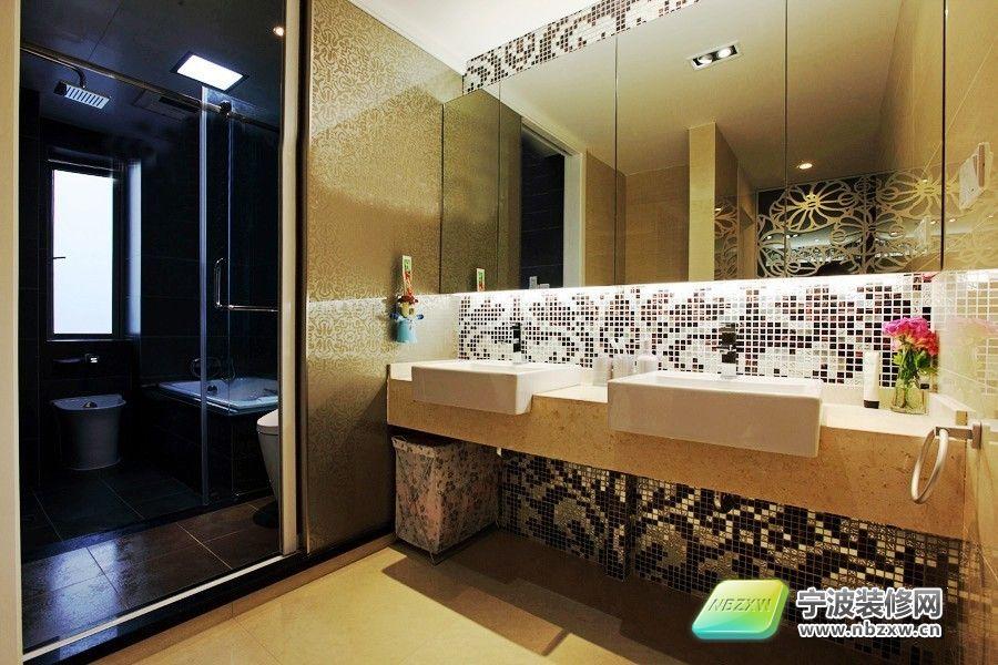 开放式厨房和大飘窗 卫生间装修效果图 -89平米两室家装 开放式厨房