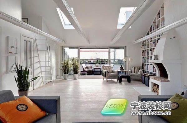 120平米屋顶公寓 俯瞰城市景观 客厅装修图片