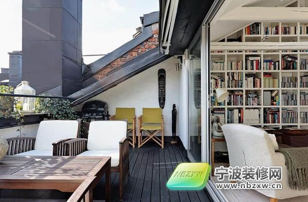 120平米屋顶公寓 俯瞰城市景观 阳台装修效果图 -120平米屋顶公寓 俯