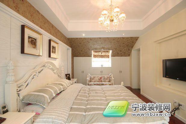 140平米清新田园风格 卧室装修效果图 宁波装修网