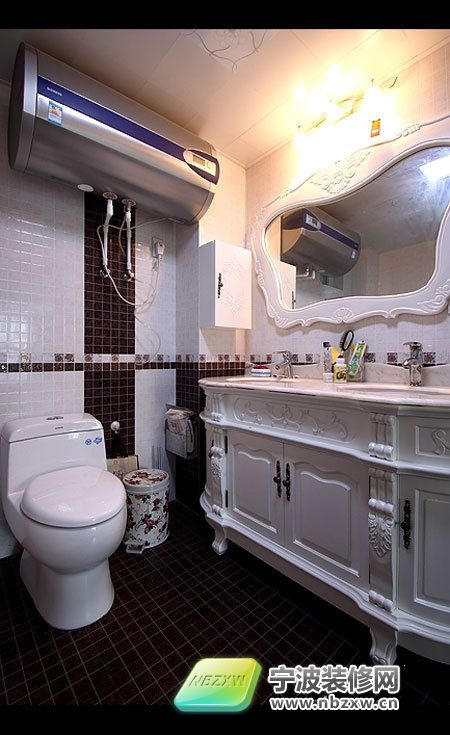 欧式奢华家居为你打造120平金粉世家 卫生间装修图片
