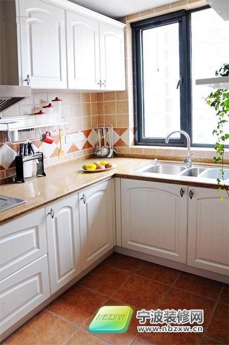 75平米田园风小2居室 厨房装修图片