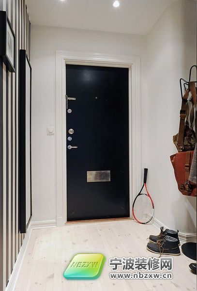 105平米北欧简约家装 玄关装修效果图 -105平米北欧简约家装 玄关装