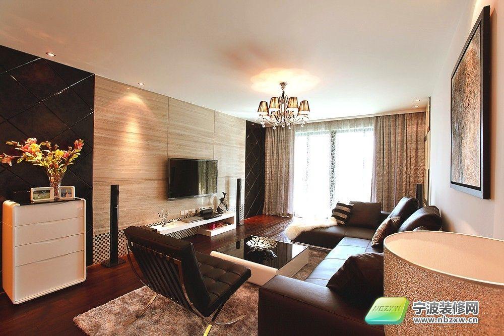 120平米 小清新家装 客厅装修效果图 宁波装修
