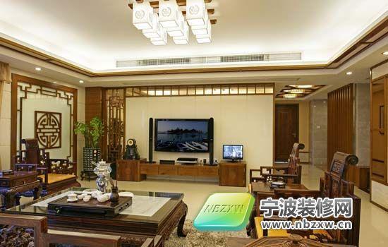 中式复式楼设计 不仅仅是传统 客厅装修图片