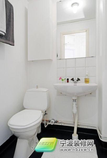 34平米迷人溫馨小戶型設計-衛生間裝修效果圖-寧波網