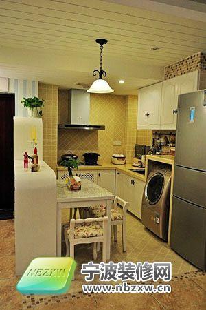 混搭风格小户型 营造浪漫婚房 厨房装修图片