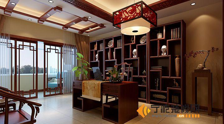 新中式家居 12万装修154平米新家 书房装修图片
