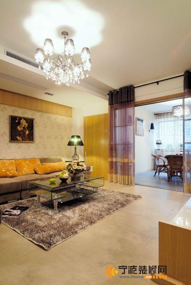 12万打造132平米田园奢华混搭 客厅装修图片