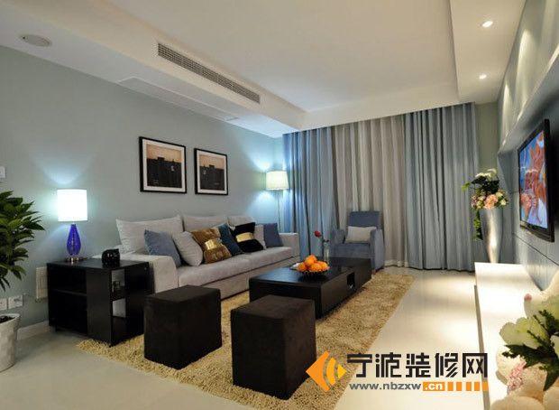 10万装修90平米现代简约居 客厅装修图片