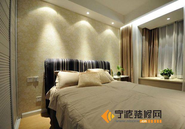 10万装修90平米现代简约居 卧室装修效果图 宁