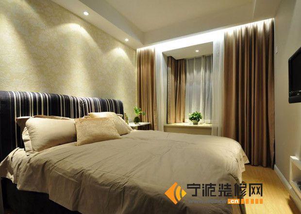 10万装修90平米现代简约居 卧室装修图片