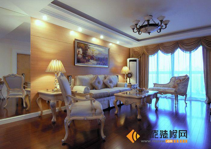102平米欧式奢华田园风 卧室装修效果图