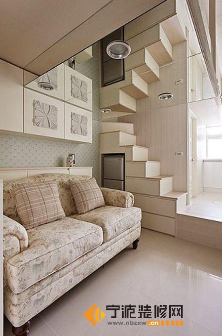 42平米小错层-客厅装修效果图-宁波装修网装修效果